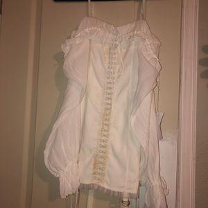 Satin Hook Dress Ivory